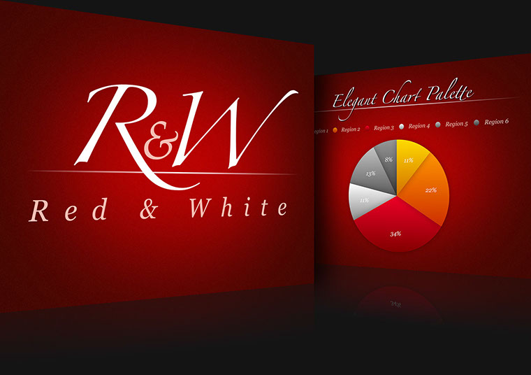 Red and White Keynote theme for Mac