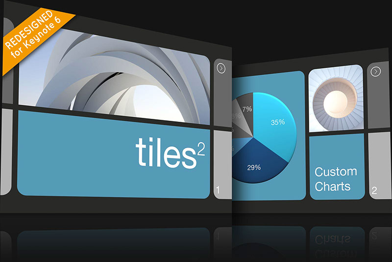 Tiles 2 Keynote theme for Mac and iOS